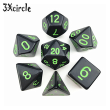Dice-Set Board-Game Rpg Opaque Polyhedral Black D8 D10 D20 Ink-Color D6 High-Quality