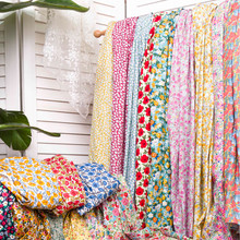 140x50cm 40s Spring and Summer Printed Floral Cotton Poplin Sewing Fabric, Making Girls' Dress Clothing Cloth