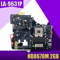 high quality motherboard for Lenovo G400 laptop motherboard G400 HM76 HD8670M 2GB VIWGPGR LA 9631P tested good