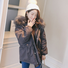 KMVEXO 2019 Fashion Korea Style Women Winter Jacket Short Loose Big Fur With Hood Womens Coat Solid Overcoat Female Parka