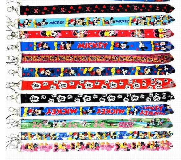 New Cartoon 10 Pcs  Mixed Mickey Minnie Lanyard Key Chains    Gifts Party  Favors S-31