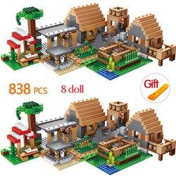 838 sztuk The Farm Cottage Building Blocks kompatybilny dom figurki cegły zestawy zabawki dla dzieci Brithday dzieci prezenty