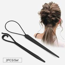 New Design 2PCS/Set Girls Hair Band Ponytail Rubber String Korean Style Hair Accessories Kids Children Hair Stick(China)