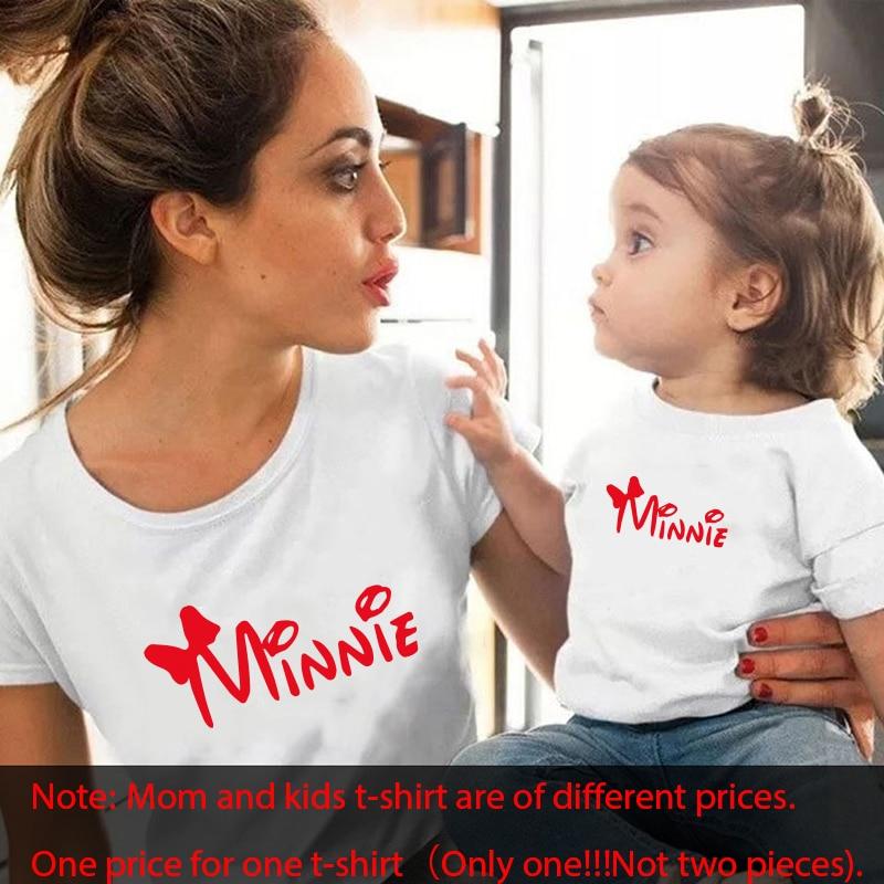 Gourd Doll/Семейные комплекты футболка женская футболка для сына и дочки топы для детей; Повседневная футболка для маленьких девочек и мальчиков - Цвет: white red 1