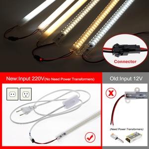 Image 5 - Ensemble de 6 pièces, Tubes LED fluorescents 220, haute luminosité, 8W, 72 110 s, 50cm, économie dénergie LED V/LED V