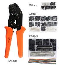 SN-28B 310PCS/620PCS/1550PCS dupont crimping tool kit jst xh crimp pliers terminal ferrule crimper wire hand set