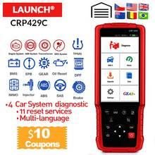 LAUNCH X431 CRP429C CRP 429 엔진/ABS/에어백/AT + 11 서비스 용 자동 진단 도구 1 년 무료 업데이트 PK CRP129 CRP429