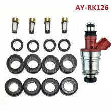 4 takım yakıt enjektörü tamir kiti servis kiti enjektör bölüm # JS28-2 Suzuki için Fit-Isuzu 1.8 2.0 2.3 2.6 (AY-RK126)