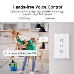 Image 4 - Itead Sonoff Nieuwe T2US 120 Size 1/2/3 Gang Tx Serie 433Mhz Rf Remoted Gecontroleerde Wifi Switch Werkt met Alexa Google Home Ifttt