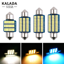 2X Festoon Car LED Lights Ice Blue Warm White C5W 31-36-39-41MM License Plate Lamp DC 12V Auto Dome Light led Interior Room Bulb
