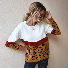 Женские футболки и свитера с леопардовым принтом для осени зимы
