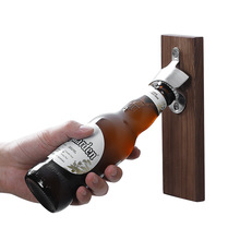 Yooap Beer bottle opener Personality creative Wood wall magnet home Retro refrigerator sticker  gadget 2019