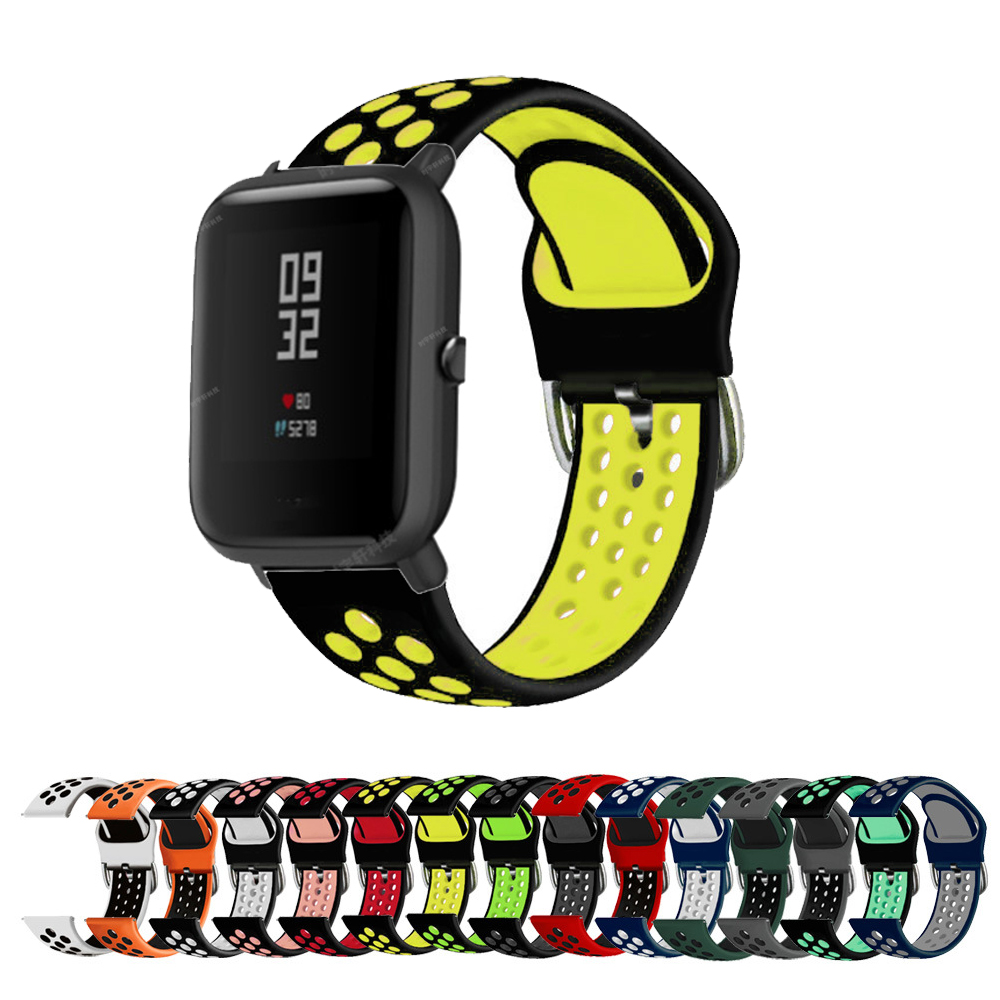 Silicone Soft Strap for Xiaomi Huami Amazfit Bip BIT Lite Youth 1S Smart Watch Wrist Bracelet for Amazfit GTS Watchband Strap