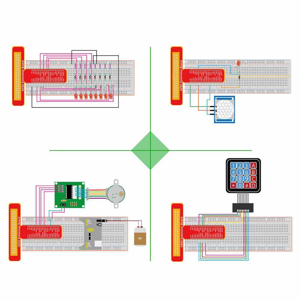 LAFVIN супер стартовый набор для Raspberry Pi 4, модель 3B + 3B 3A + 2B 1B + 1A + Zero W + Diy Kit