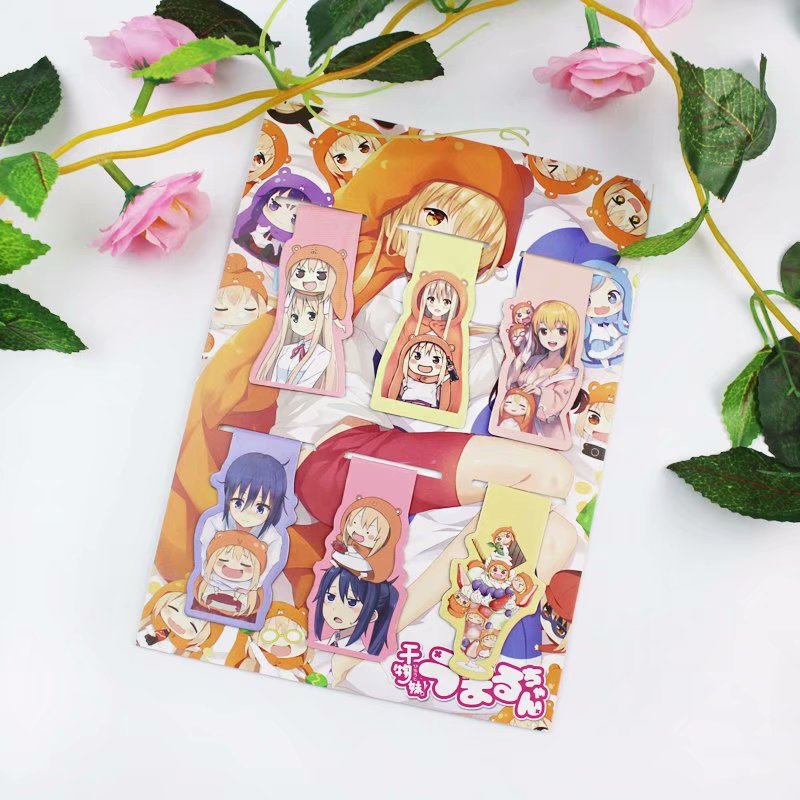 6pcs Himouto! Umaru-chan Anime Magnetic Bookmark Magnet Bookmark Child Student Kawaii Gift Bookmarks Office Stationery