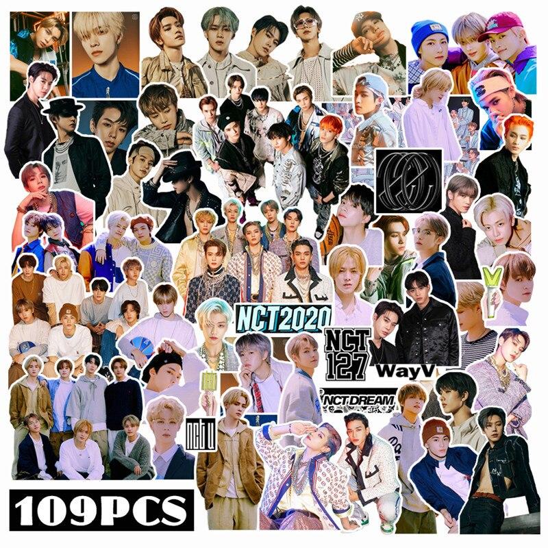 109 шт./компл. Kpop NCT 127 WayV наклейка с символами 2020 для багажа, ноутбука, мобильного телефона, DIY Наклейка s