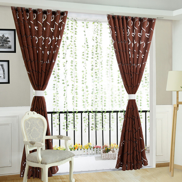 Luxury fashion style semi-blackout curtains Home curtains window living room living room curtain panel jacquard fabrics door CD 2