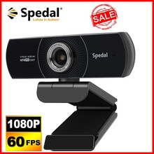 Spedal MF934H 1080P Hd 60fps Webcam with Microphone for Desktop Laptop Computer Meeting Streaming Web Camera Usb [Plug and Play]