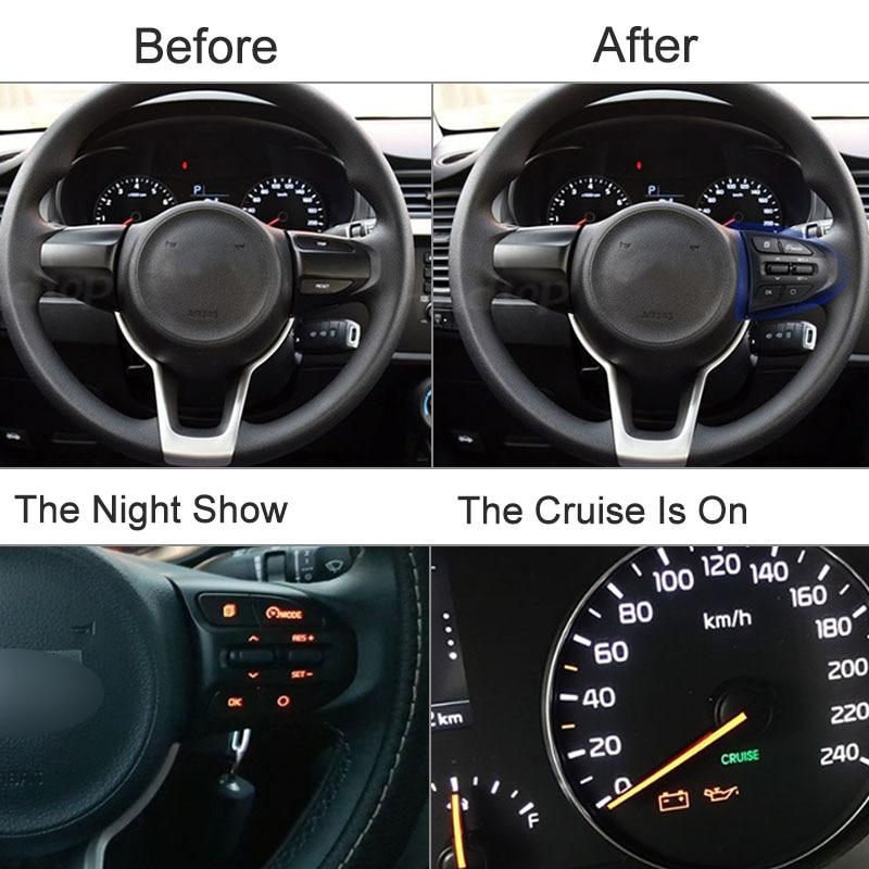 Image 5 - ESPEEDER Car Steering Wheel Button Bluetooth Phone Cruise Control Volume For KIA K2 RIO 2017 2018 RIO X LINE Car AccessoriesSteering Wheels & Steering Wheel Hubs   -