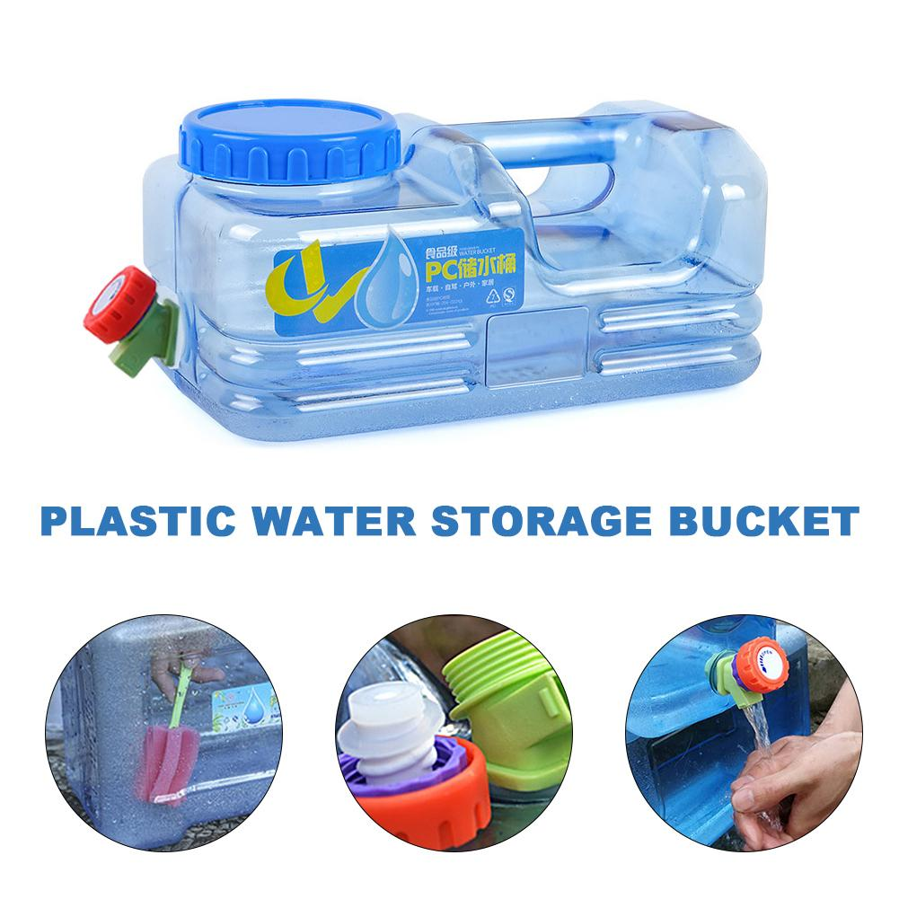 5L Car Portable Storage Bucket Food Grade PC Plastic Water Bottle Gallon Handle Water Bottle Snap Cap Anti Splash Jug Container