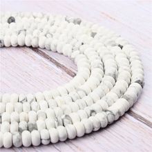 White Pine Natural Agate Gem 4X6MM5X8MM Abacus Bead Spacer Bead Wheel Bead Accessory For Jewelry Making Diy Bracelet Necklace