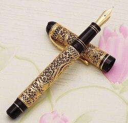 HERO 3000 Klassische 18K Gold Brunnen Stift Limited Edition Chinesischen Stil Gold-silk Schmetterling Muster Business Geschenk Sammlung set