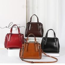 women bag vintage handbag casual tote fashion crossbody bags for women black leather genuine shoulder bags designer high quality