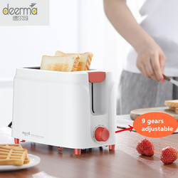 Deerma 2 Slices Stainless steel toaster Automatic Fast heating bread toaster Household Breakfast Sandwich maker Kitchen