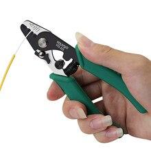 Youysi 3-porta fibra stripper descascamento alicate/strippers de fio três buraco alicate para miller ferramenta de aço