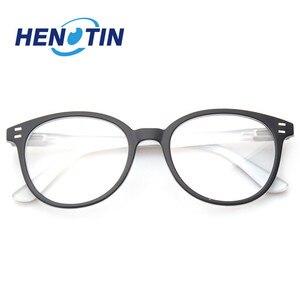 Image 2 - Henotin男性と女性のファッションカジュアル老眼鏡オーバルフレームバネ蝶番デザイン老眼鏡視度 0.5 1.75 3.0 4.0...