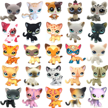 цены rare cat pet shop cute toys stands short hair kitten pink #2291 grey #5 black #994 old original kitty  figure collection