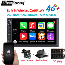 SilverStrong 7IPS 4G Modem 2Din Android10.0 universal 2Din DVD Android Car GPS Radio Universal auto Stereo 2 din 706