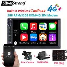 SilverStrong 7IPS 4G Modem 2Din Android10.0 uniwersalny 2Din DVD nawigacja GPS do samochodu z androidem Radio uniwersalny auto Stereo 2 din 706