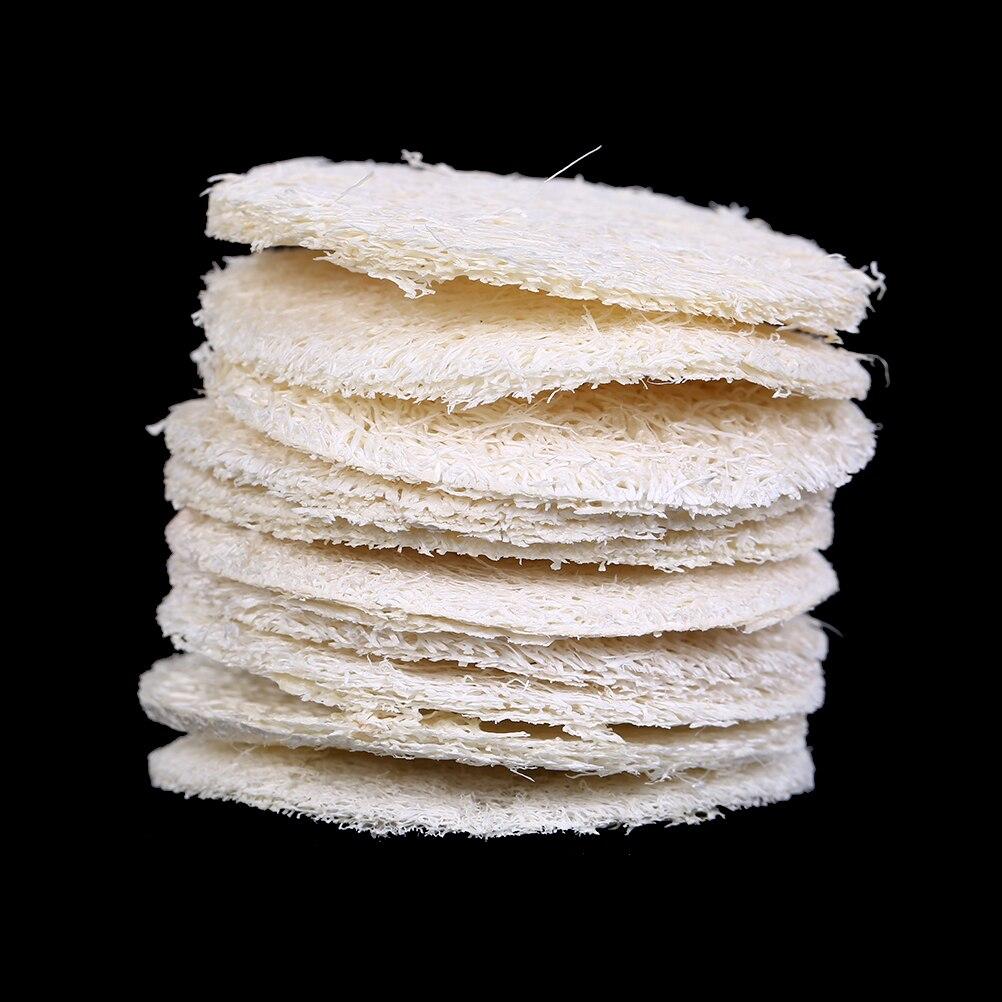 10 шт. Губка из натуральной люфы губки для отшелушивания Ванна перчатки Овальная Ванна Полотенца