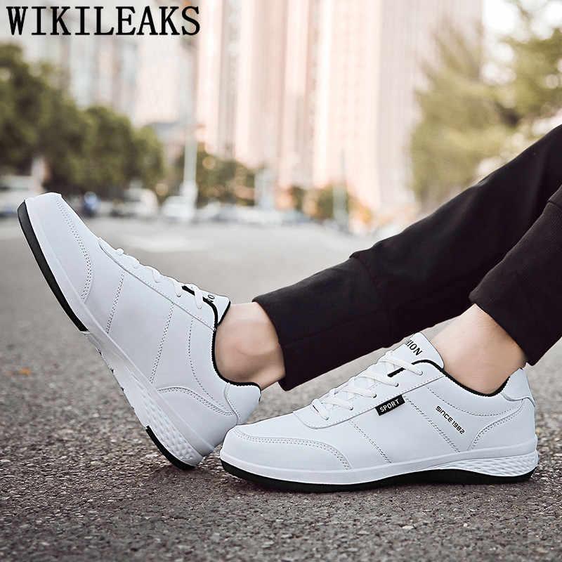 Lederen schoenen mannen 2019 casual schoenen mannen witte designer schoenen mannen sneakers chaussure homme tenis masculino erkek ayakkabi tenis