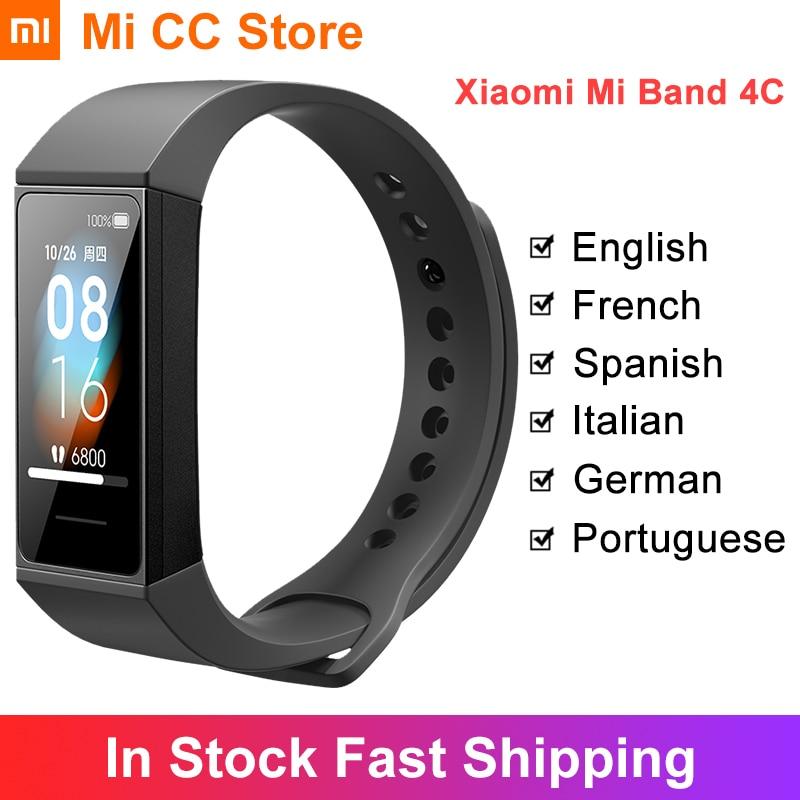 Глобальная версия Xiaomi Mi Band 4C смарт-Браслет фитнес-трекер 1,08
