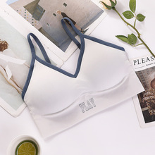 Fashion Letter Women Tube Top Sexy Tank Top Sports Crop Top Streetwear Summer Camis Cropped Tee velevet lace trimmed cropped tank top