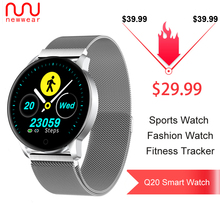 2019 Hot Newwear Q20 Business Smart Watch Blood Pressure Heart Rate Monitor Sports Smartwatch Fitness Tracker Bracelet Men Q8 Q9