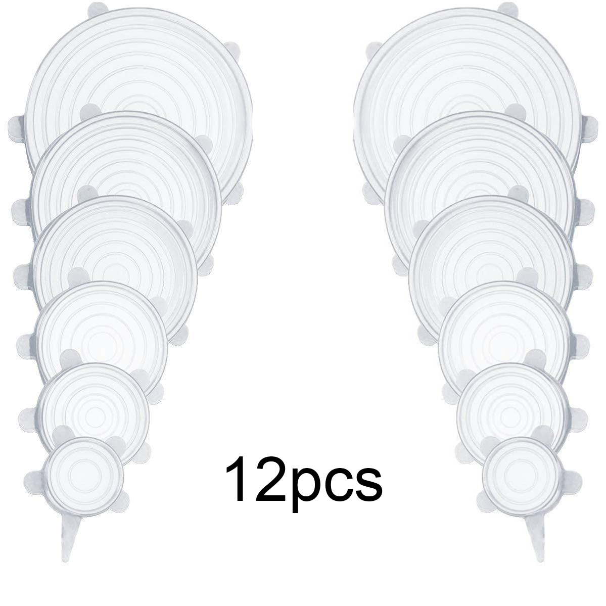 12Pcs White