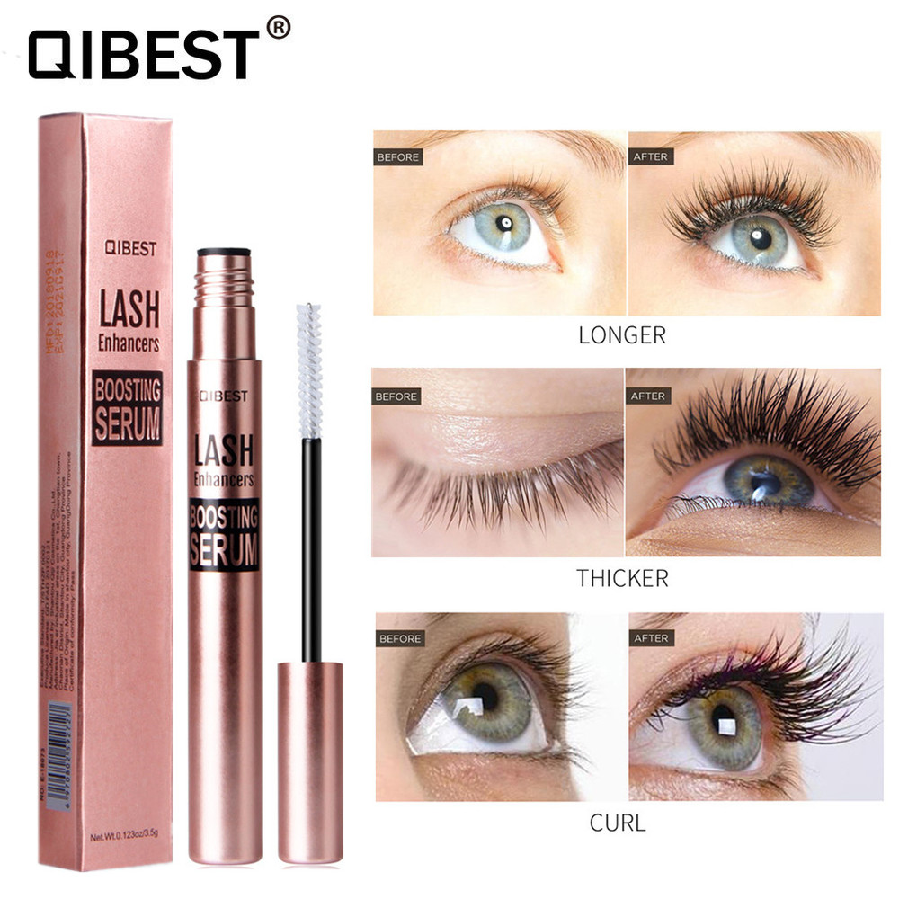 Qibest Eyelash Growth Serum Eye Lash Care Eyebrow Enhancer Thick Longer Curling Lashes Conditioner For The Growth Of Eyelashes