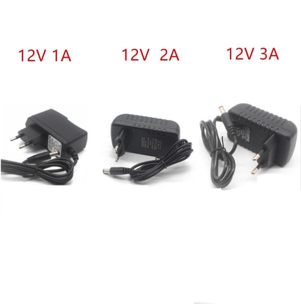 Мощность адаптер DC12V 5V 1A 2A 3A 5V 12V адаптер Мощность переключение Зарядное устройство питания ЕС США штекер 220 В до 12 В для светодиодной ленты св...