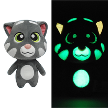 Glow in the Dark Cat Toys Luminous Stuffed Animals Talking Tom and Friends Safety Material Christmas Birthday Gift For Babys(China)