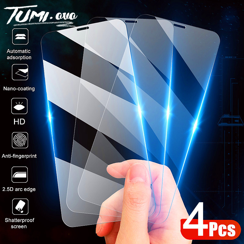 4-1Pcs Tempered Glass For iPhone SE 2020 SE2 Screen Protector Glass Film For iPhone 11 Pro Xs Max Xr X 8 7 6 6S PIus 5 5S Cover