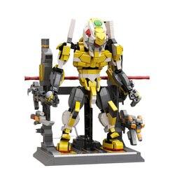 Новинка 1205 + шт. Строительные блоки MOC Mecha маленькие частицы Сборная модель Mecha блоки Mecha игрушка с платформой и оружием