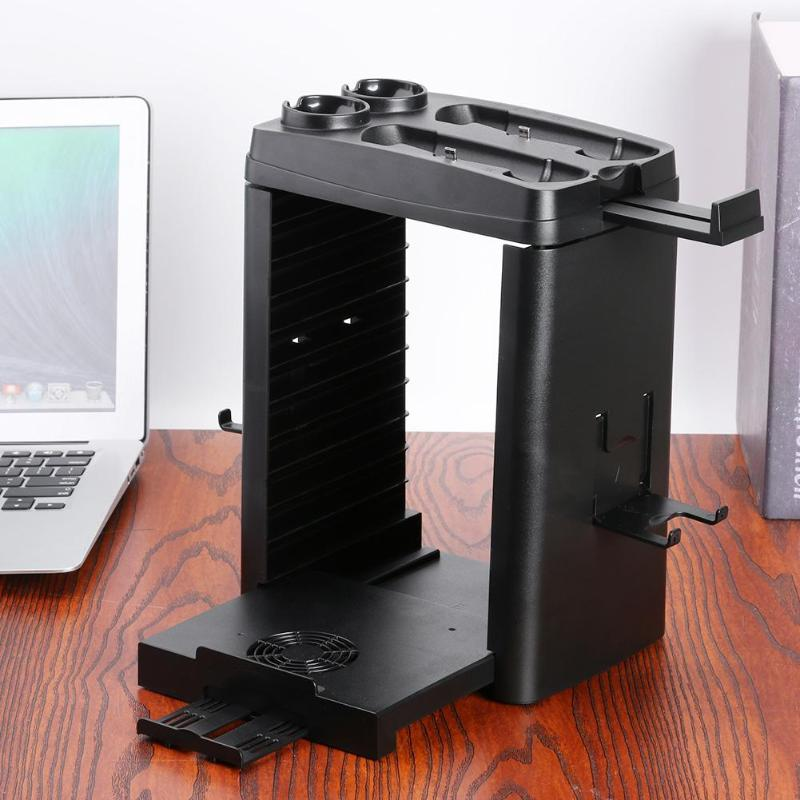 Vertical Stand For PS MOVE VR Charging Stand Game Disc Holder Cooler for PS4 Slim Pro Support Dropshipping image