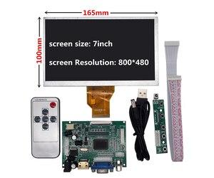 7 inch for Raspberry Pi Banana/Orange Pi mini computer LCD Screen Display Monitor Remote Driver Control Board 2AV HDMI VGA