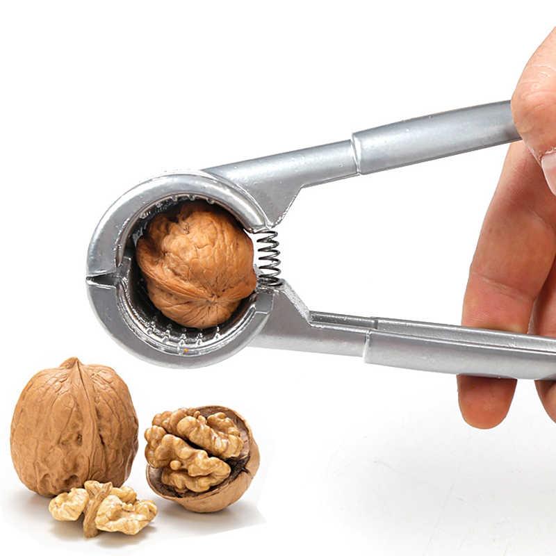 โลหะผสมสังกะสี Nutcracker Sheller Crack อัลมอนด์วอลนัท Pecan เฮเซลนัท Filbert Nut ครัว Nut Sheller เครื่องมือคลิป Clamp Plier Cracker