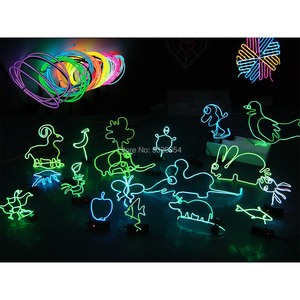Image 5 - 1M 3V 2AA controller Flexible EL Wire Rope Tube tape Waterproof LED Neon Lights Shoes Clothing Car Decor