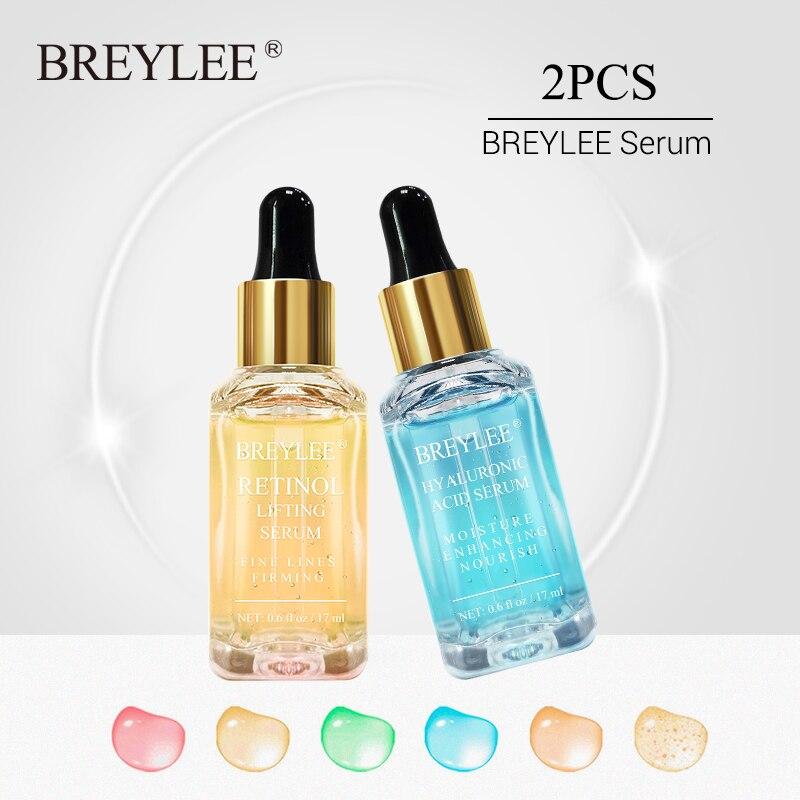 BREYLEE Retinol Serum Face Collagen Lifting Firming Essence Skin Care Whitening Anti-aging Anti Wrinkle Moisturizing 2pcs