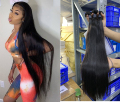 Angelbella Bone Straight Brazilian Remy Hair Extension 24 26 28 30 Long Hair 1/3/4 Bundle Deals Weave Double Strong Weft